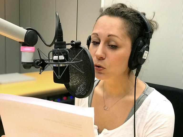 Katrin Ohlendorf im Radiostudio